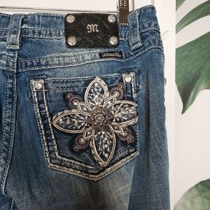 Miss Me Jeans - Miss Me Signature Rise Boot Floral Embellished